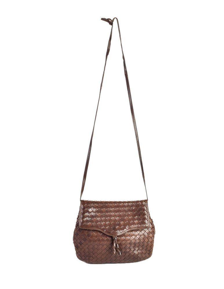a0f08d23 Bottega Veneta Vintage Intrecciato Brown Woven Leather ...
