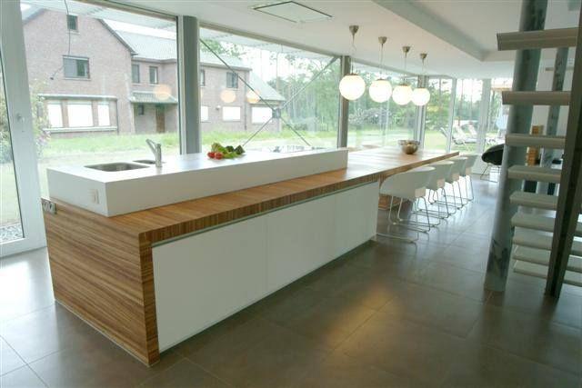 Moderne Open Keukens : Keukeninspiratie voor een moderne open keuken met keukeneiland