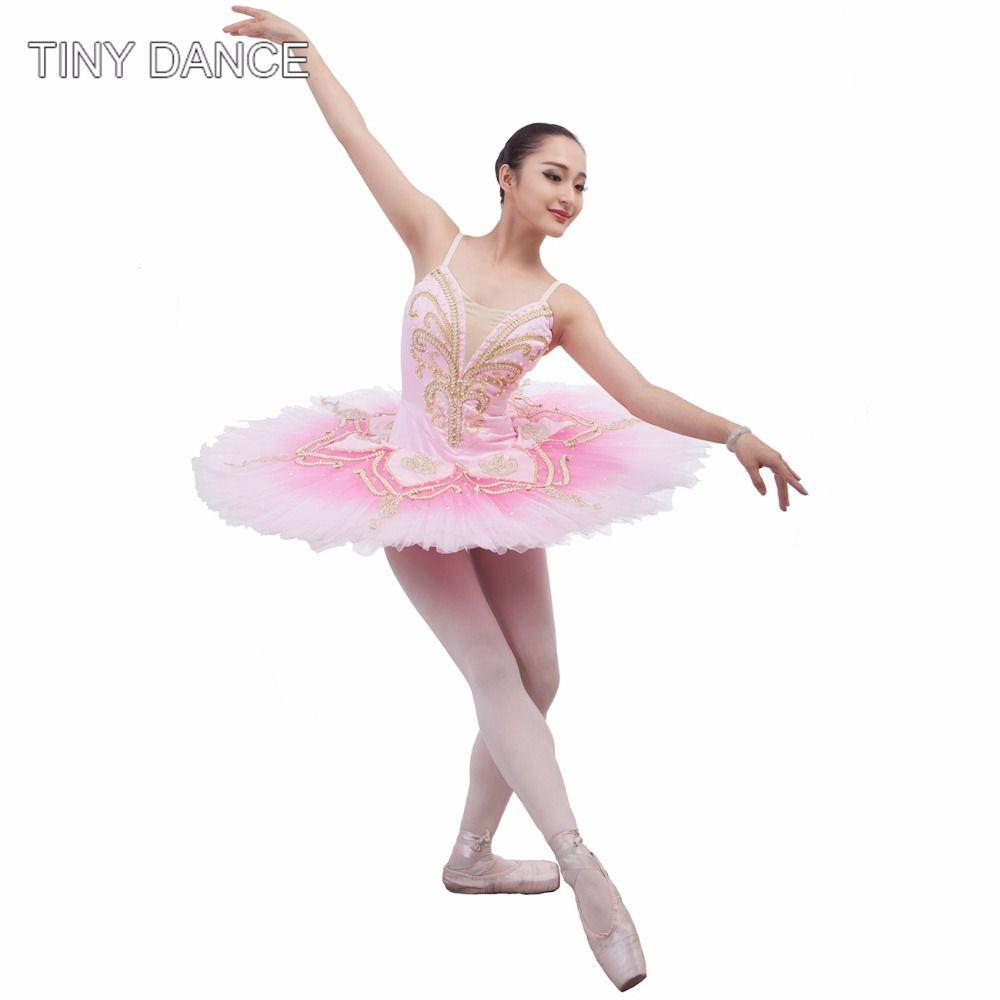 2c535fe75 Find More Ballet Information about Pink Professional Ballet Dance Tutus for  Women Ballerina Costumes Classical Ballet Tutu Dress Solo Dance Pancake  Tutu ...