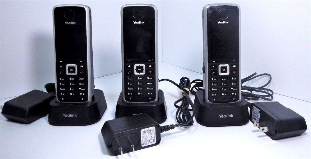 3 Yealink W52P VOIP IP HD DECT Cordless Phone Handsets w/Charging