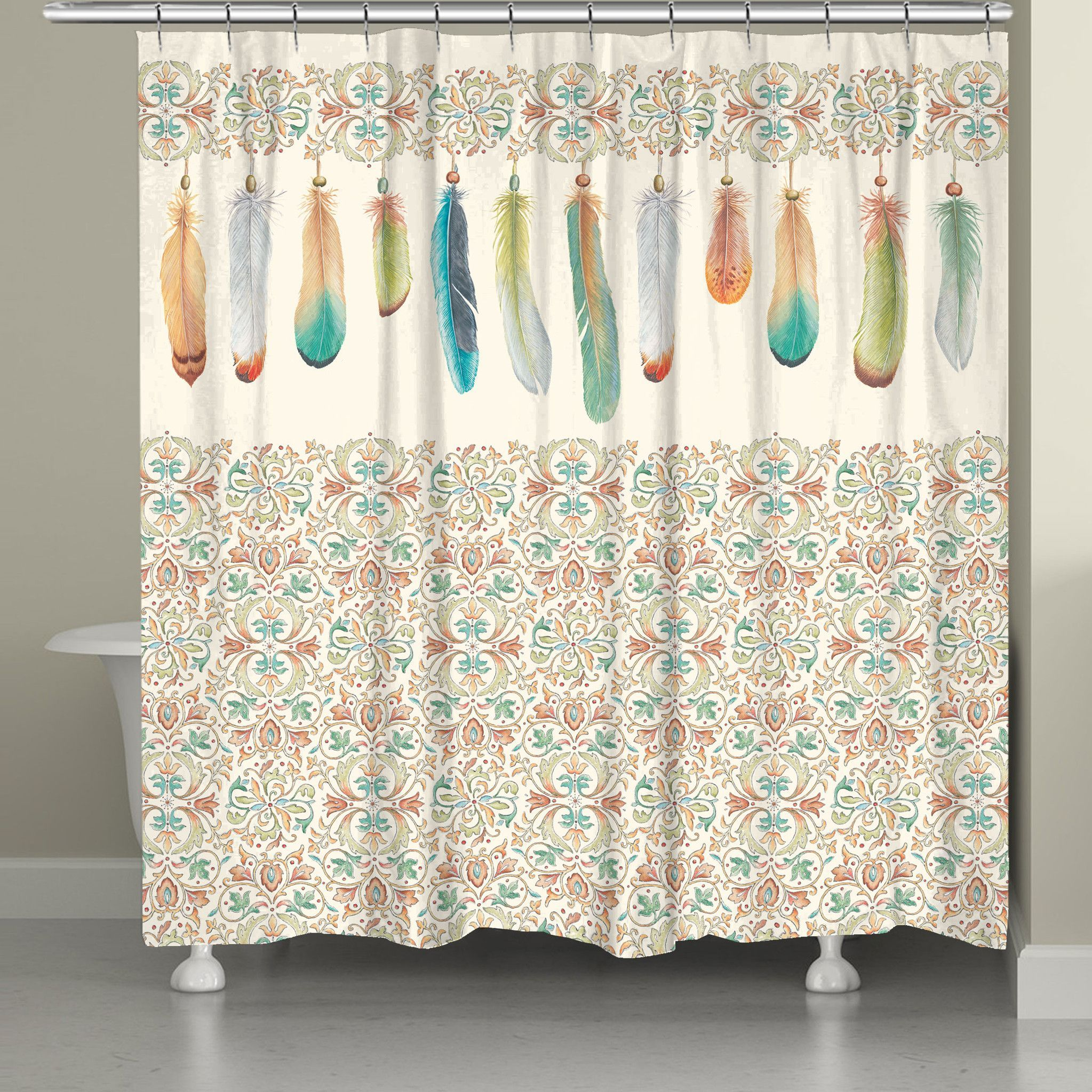 Turquoise Living Room Curtains Feathers Shower Curtain Feathers Products And Living Room Curtains