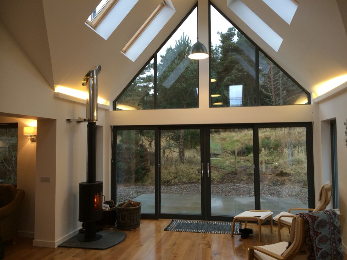 Rear Extension Ideas >> Internal view of glazed gable extension | cmdesignlife in 2019 | Bungalow extensions, House ...