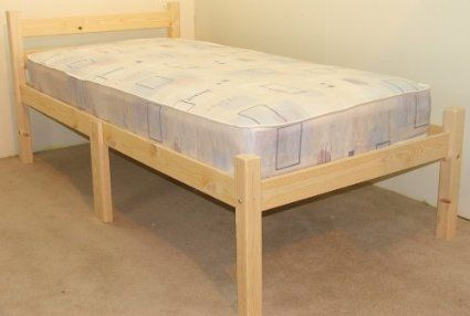 Best Short Bed Small Single 2Ft 6 X 5Ft 9 Wooden Pine Bed 400 x 300