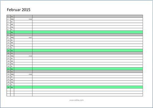 Kalender-2015-zum-Ausdrucken   Meins   Pinterest   Kalender 2015 zum ...