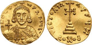 CoinArchives.com ANCIENT COINS, BYZANTINE, Leo III, the Isaurian (AD 717-741). Gold Solidus, 4.42g, Constantinople. d N O LEO-N PA MXL' crowned and draped bust of Leo III facing, holding globus cruciger and akakia. Rev. VICTORIA AVGX, cross potent set on three steps, S//CONOB. (cf DOC 1 (officina not recorded); MIB 1; SB 1502). A couple of light scratches,