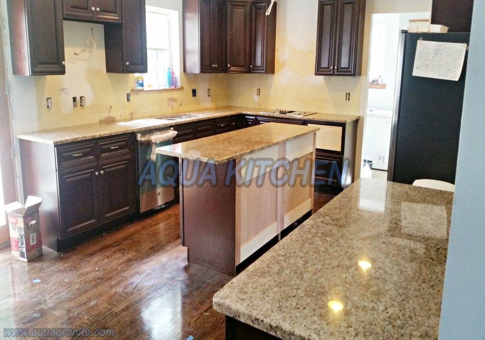 Giallo Ornamental Granite For Warm & Elegant Kitchen Design  Aqua Classy Kitchen And Bath Design Center Design Ideas