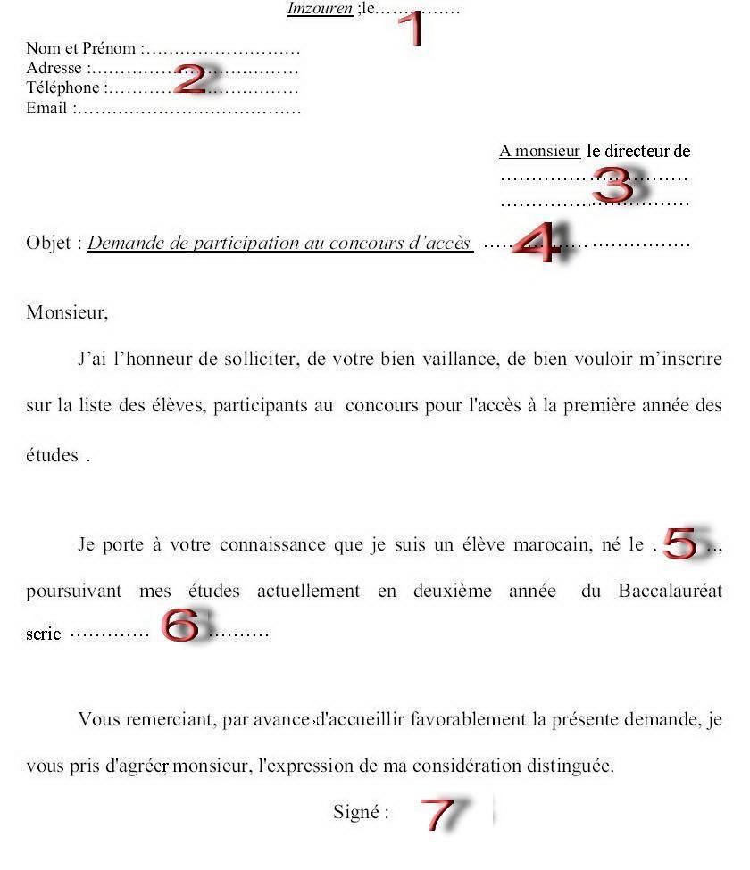 نموذج طلب خطي باللغة الفرنسية دراستنا Dining Etiquette Education Etiquette
