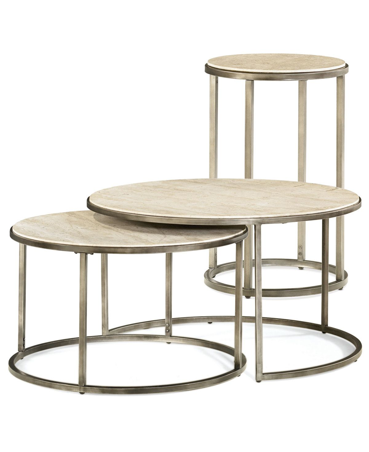 Monterey Round Tables 2 Piece Set Nesting Coffee Table And End Table Coffee Accent Tables Furni Nesting Coffee Tables Bronze Coffee Table Coffee Table [ 1467 x 1200 Pixel ]