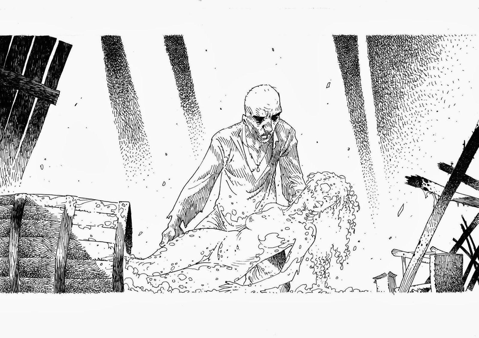 Mata Negra é o novo projeto de Rodrigo Aragão. Sketch de Eduardo Cárdenas.