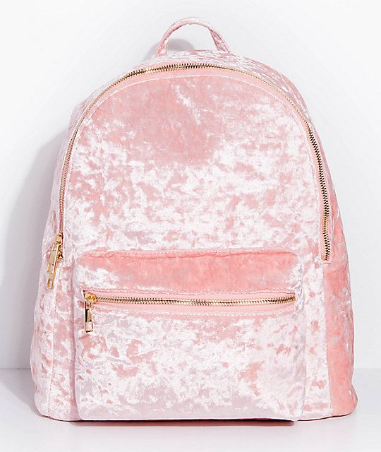 f953f8d887058 Crushed Velvet Light Pink Backpack Light Pink Backpack