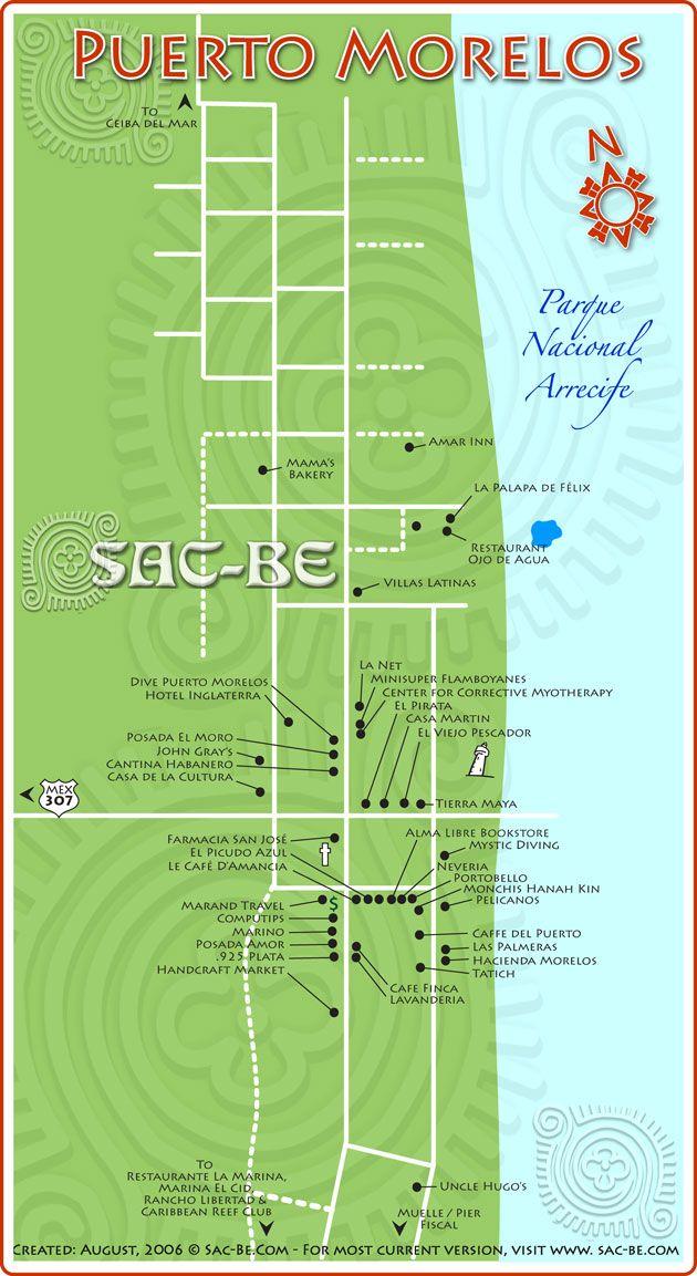 Christmas In Cancun 2019.Puerto Morelos Map In 2019 Puerto Morelos Mexico Vacation
