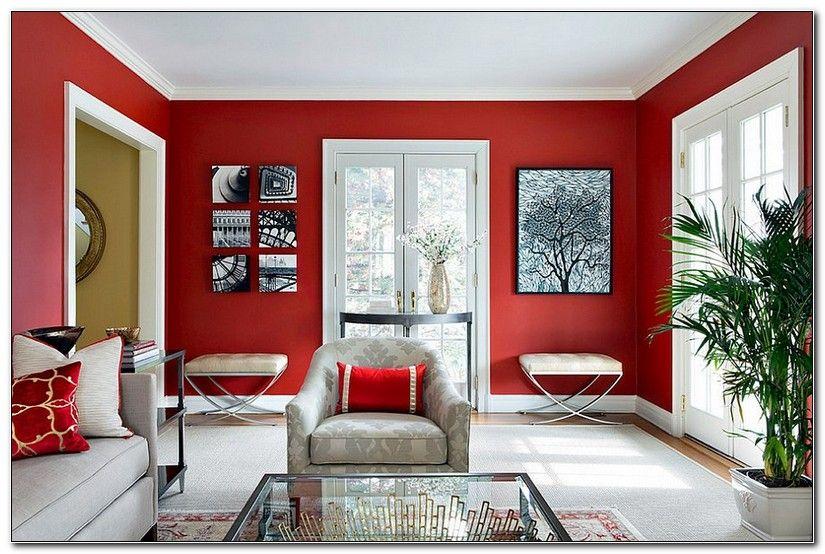 Red Wall Decor For Living Rooms (Dengan gambar) | Kamar ...