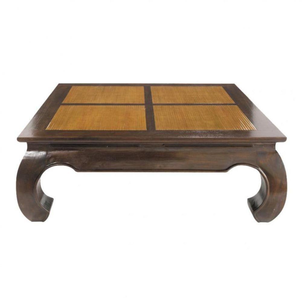 Table Basse Carree Couchtisch Quadratisch Teakholz Couchtisch Couchtisch