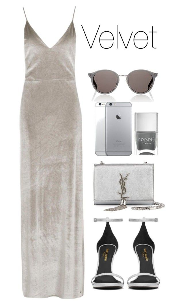 V by melaniemeran on Polyvore featuring polyvore fashion style Boohoo Yves Saint Laurent Nails Inc. clothing