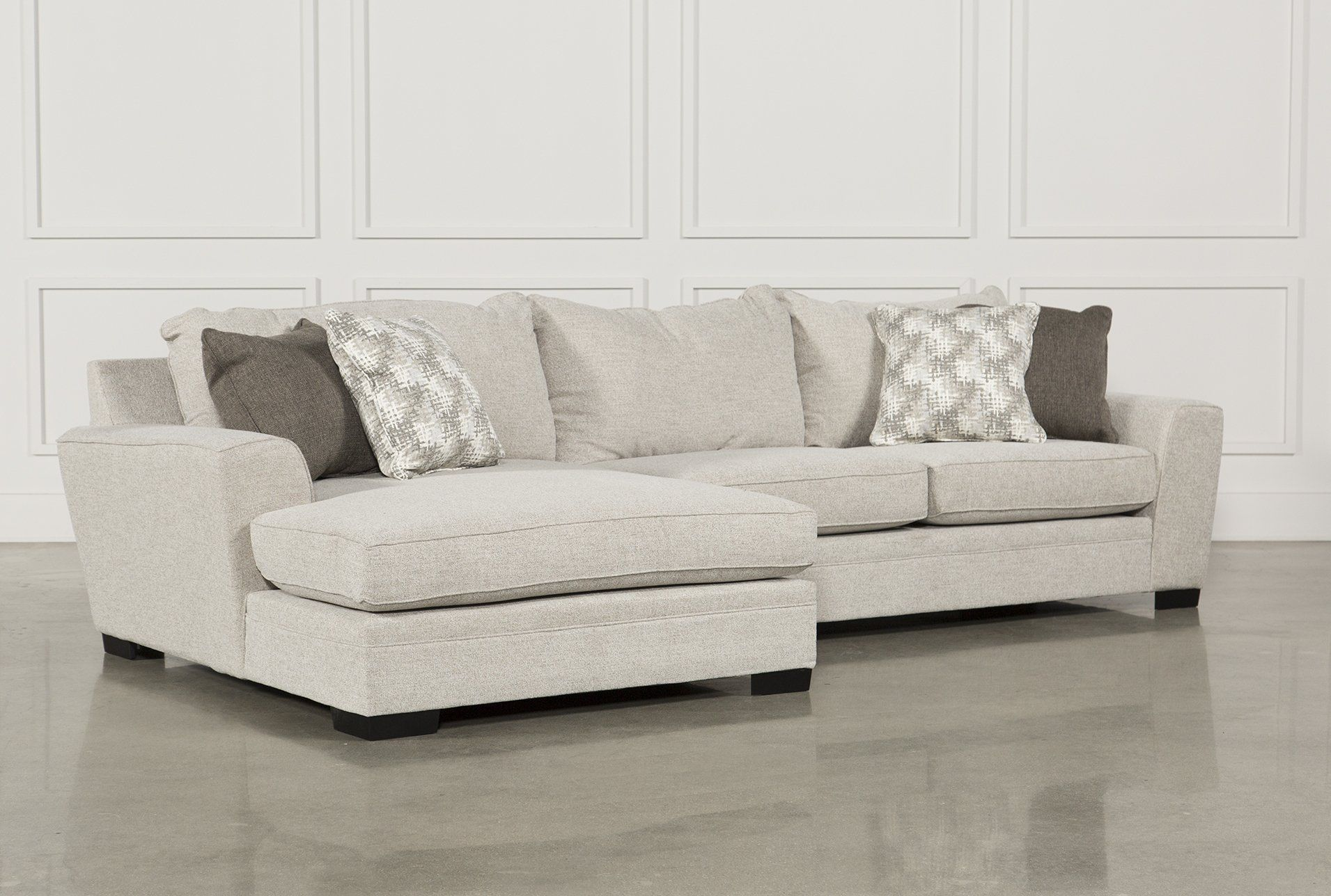 Delano 2 Piece Sectional Wlaf Oversized Chaise, Beige, Sofas