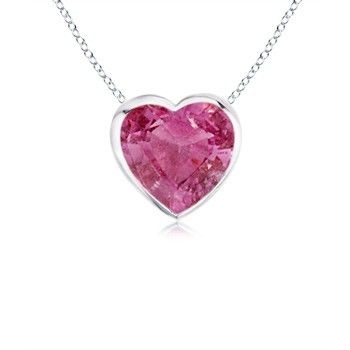 Angara Pink Sapphire Necklace in 14k White Gold SnJKO