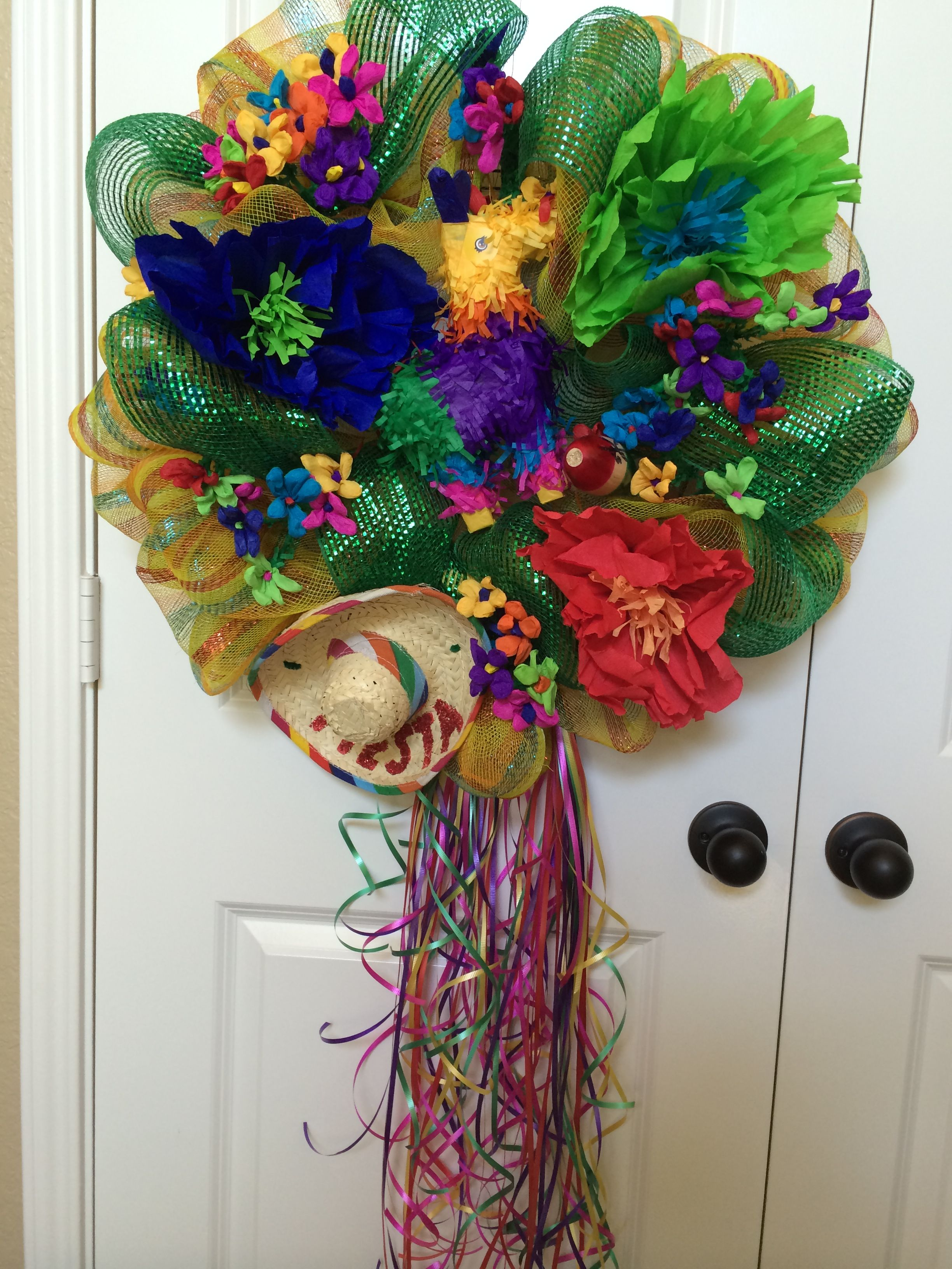 Fiesta San Antonio Wreath Wreaths, Halloween wreath