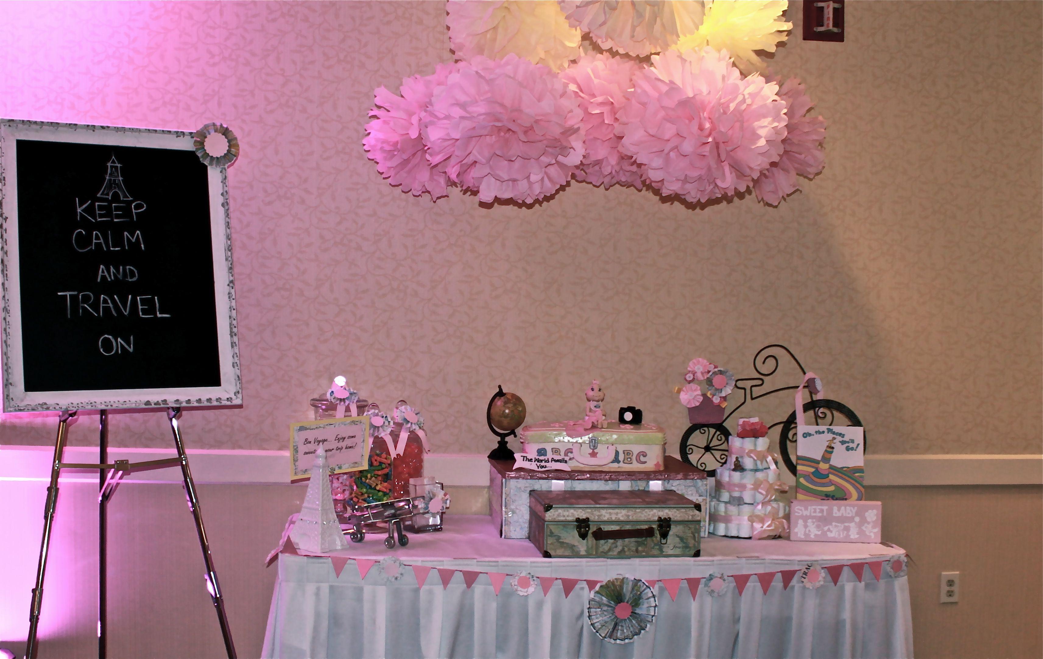 Cake Table Setup   Google Search · Travel Baby ShowersCake ...