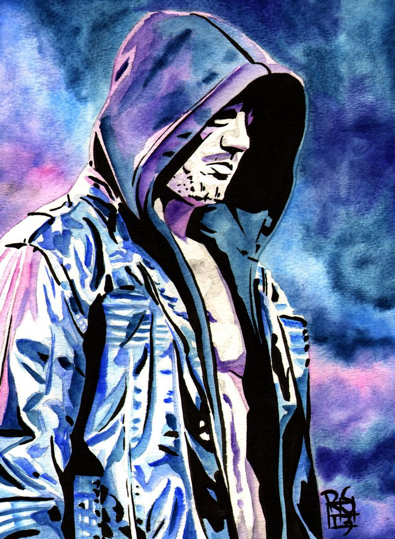 Aj Styles Ink And Watercolor On 9 X 12 Watercolor Paper