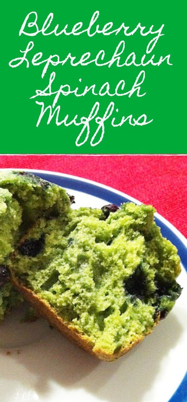 Blueberry Leprechaun Spinach Muffins - Merry About Town