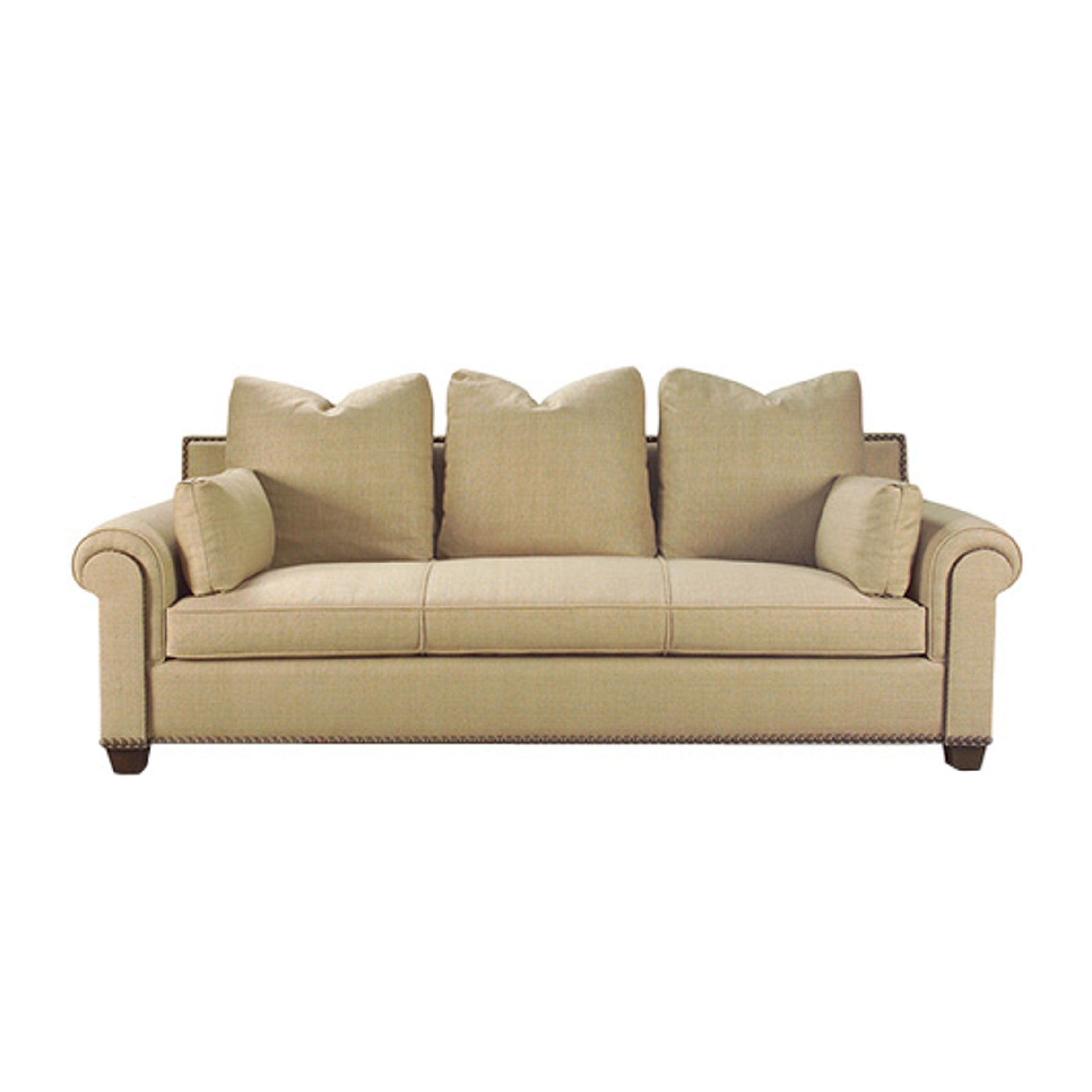 Rue Cambon Sofa Transitional Wood Upholstery Fabric Sofas