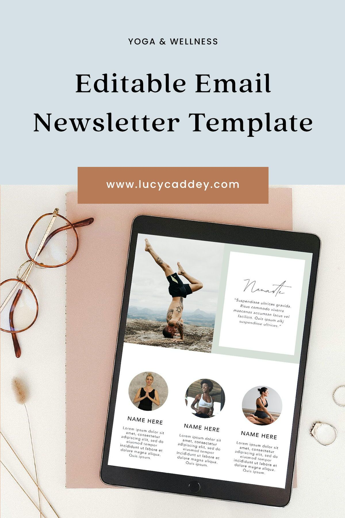 Editable Mailchimp Template Design Tired of your email