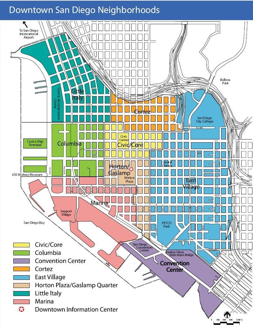 San Diego Map Downtown.Downtown San Diego Map I Love San Diego San Diego San Diego