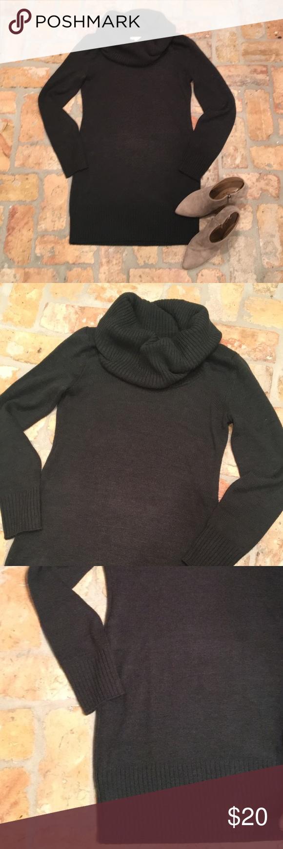 💛H&M Cowl Neck Sweater Dress Hunter Green | Cowl neck sweater ...