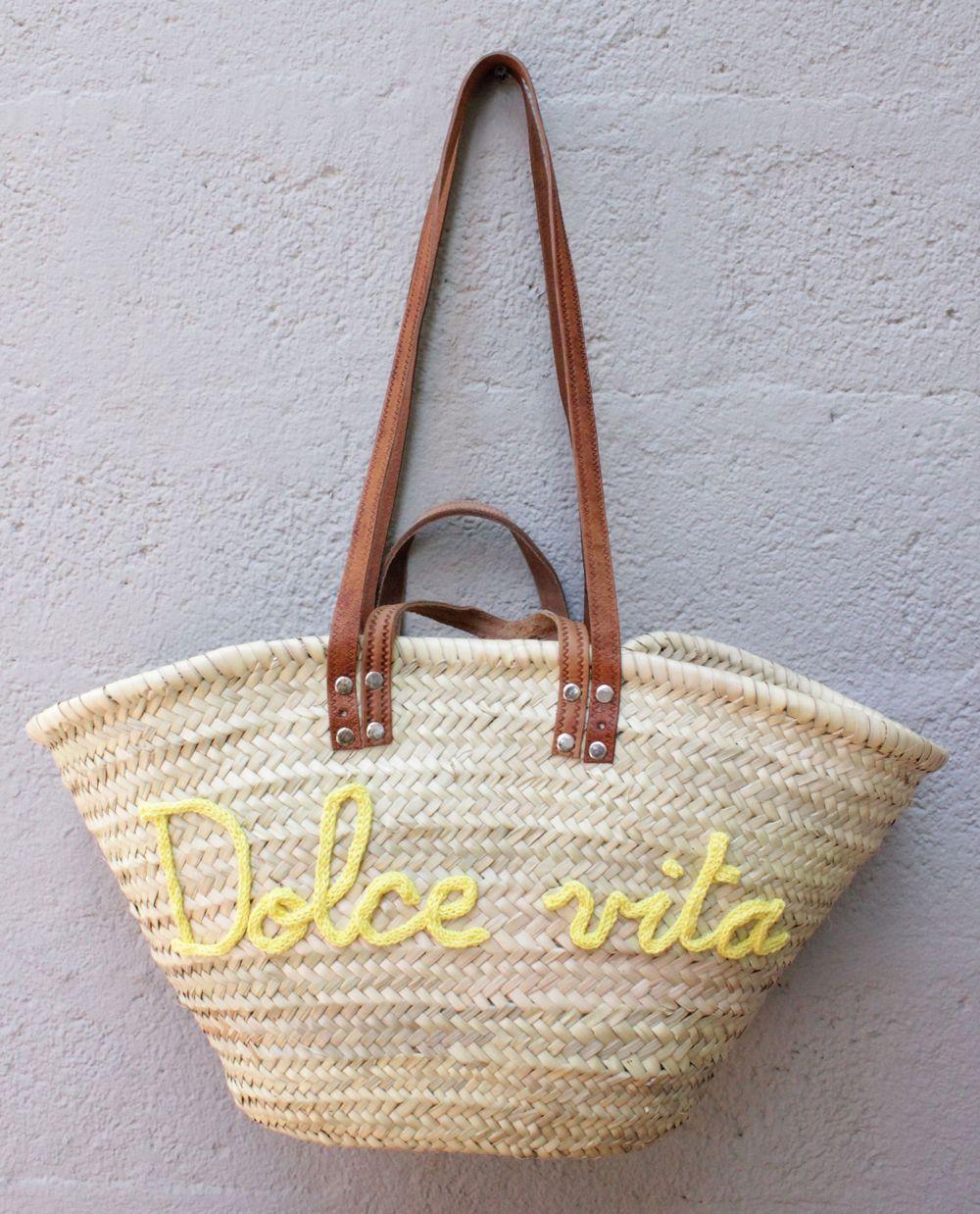 l 39 atelier des petites bauloises panier de plage dolce vita clutchs pinterest bag and. Black Bedroom Furniture Sets. Home Design Ideas