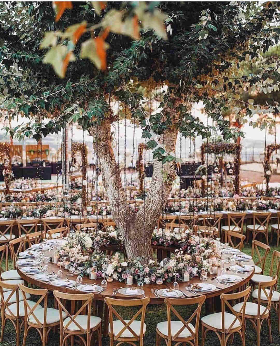 Vintage and elegant wedding decoration ideas: garden wedding; outdoor  wedding; weddi… | Wedding decor elegant, Outdoor wedding decorations,  Reception table settings