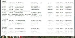San Antonio Storage Auction Schedule