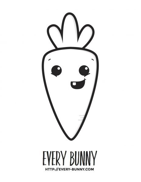 Carrot Cartoon Character Coloring Page Printable Coloring Pages