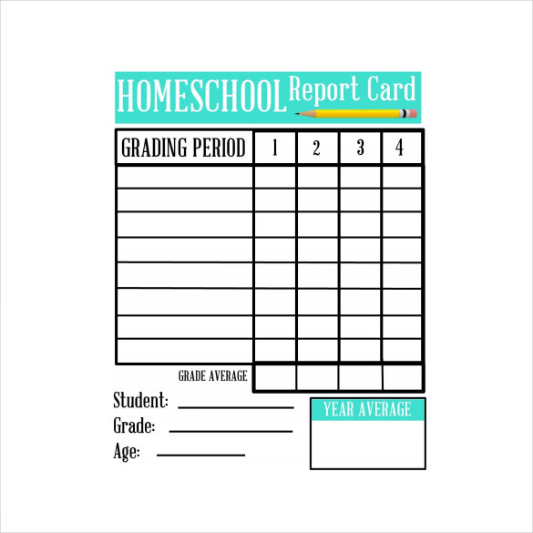 Homeschool Report Card Template 6 Professional Templates
