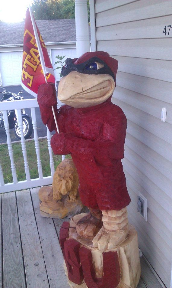 Cy chainsaw carving by levilanz iowa state pinterest