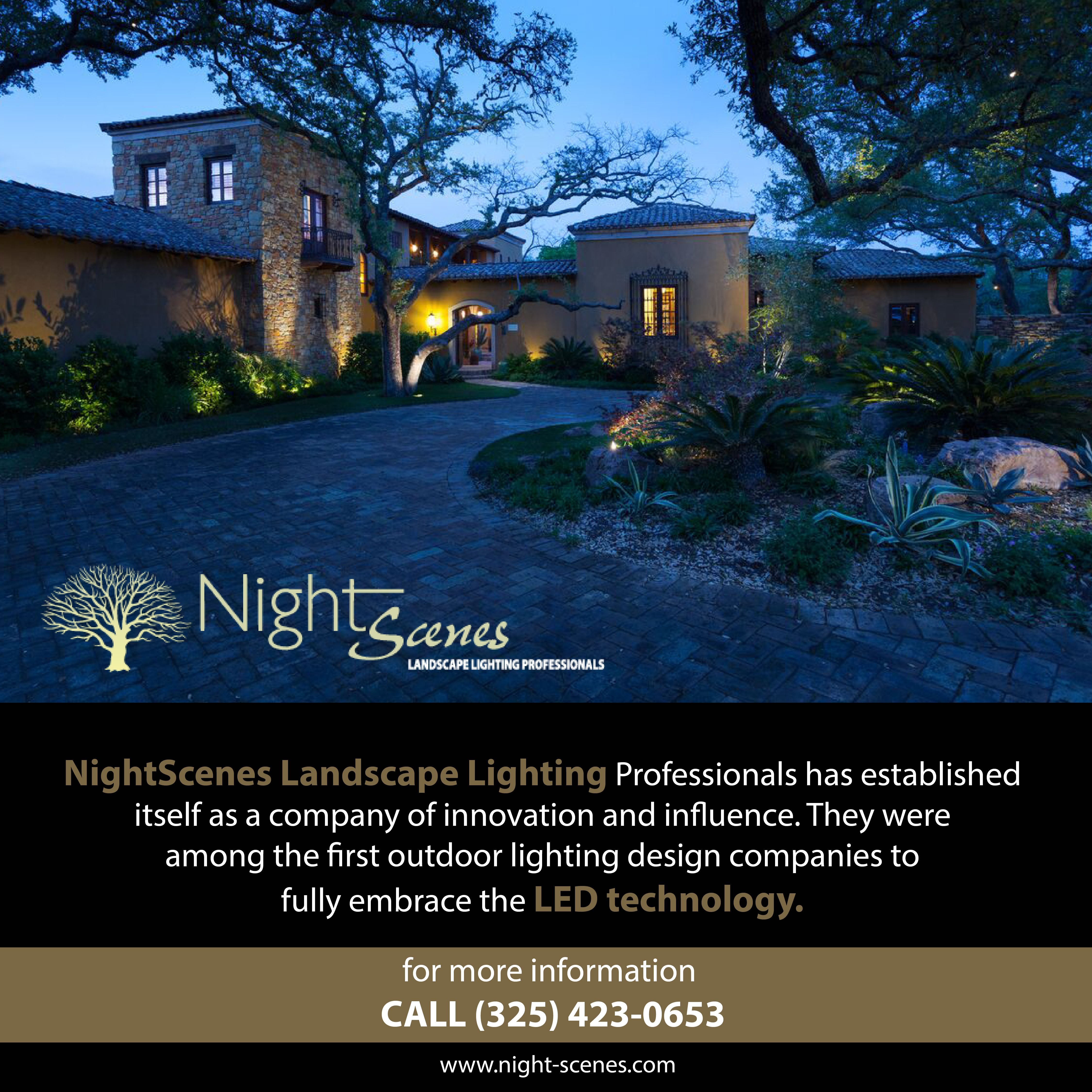Nightscenes Landscape Lighting Professionals Has Established Itself As A Company Of Innovation And Outdoor Lighting Design Landscape Lighting Outdoor Lighting