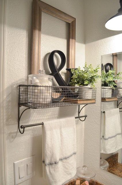 Farmhouse Bathroom Organization