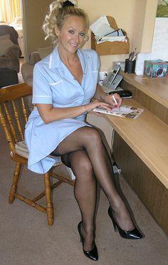 Milf nurse in nylons