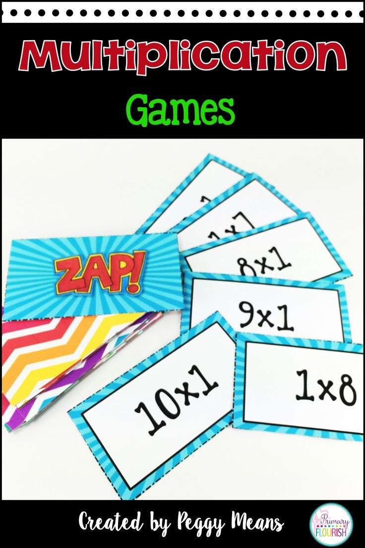 Math Fact Fluency {ZAP Multiplication Games} | Math facts ...