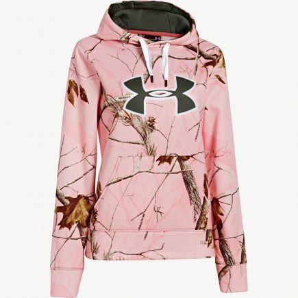 girls under armour camo hoodie