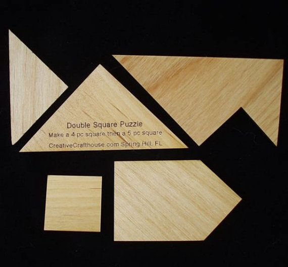 Double Square Wooden Brain Teaser Puzzle | Wood Crafts