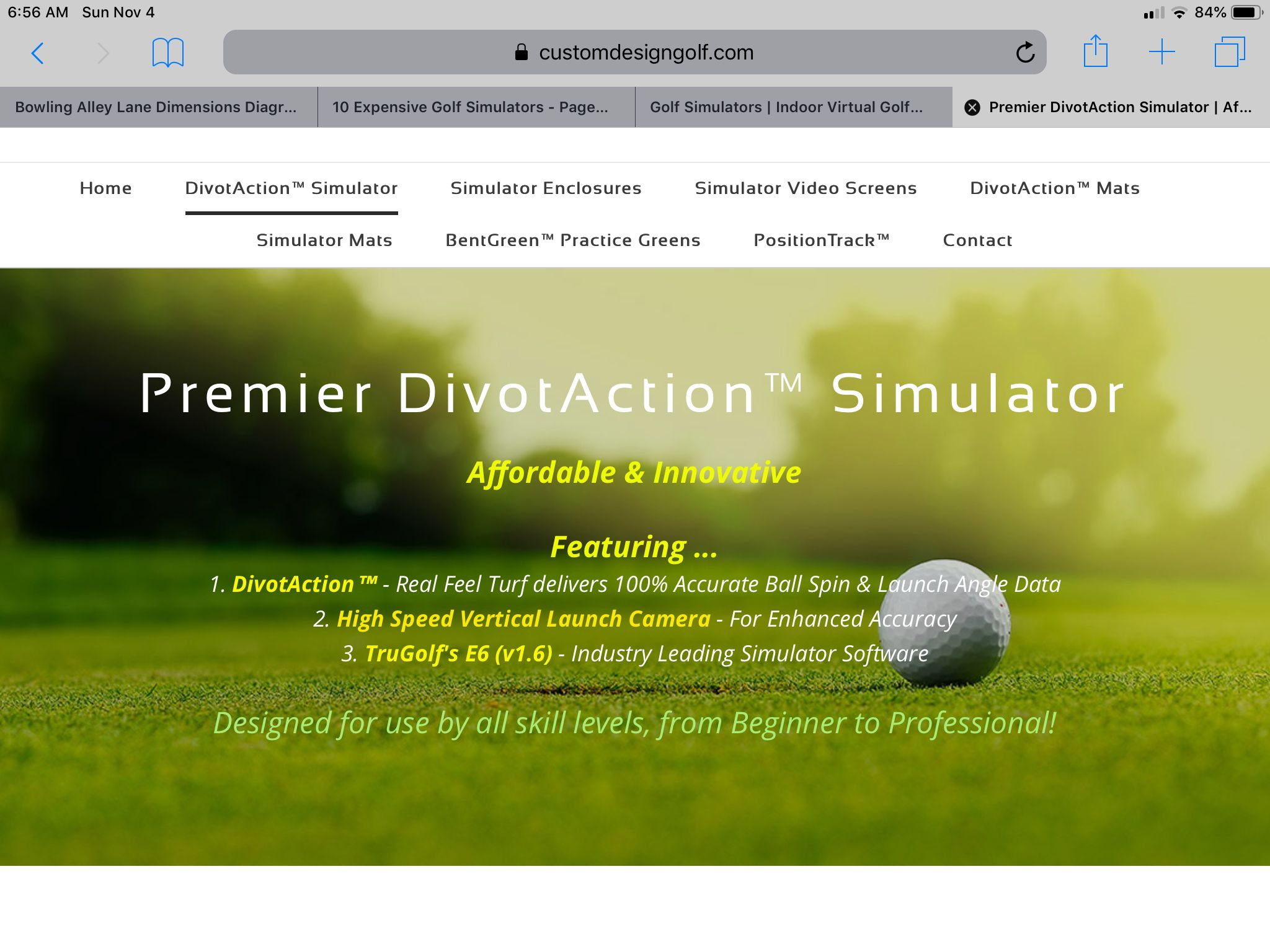 Pin by Ronald Park on Guest House Golf simulators