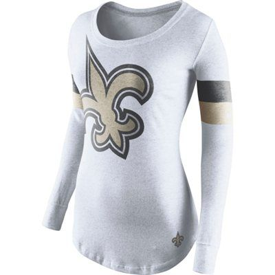 88a453c92 Nike New Orleans Saints Women s White Take it Long Long Sleeve T-Shirt