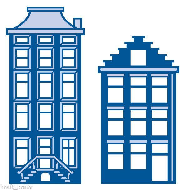 Amsterdam Houses LR0207 Marianne Design Creatables Cutting Dies