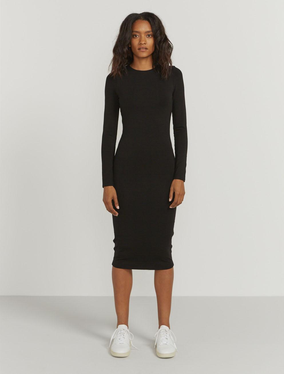 Pattyboutik Comfy Off Shoulder Long Sleeve Fitted Casual Dress Black S Long Sleeve Fitted Dress Black Long Sleeve Dress Casual Dresses [ 2000 x 1545 Pixel ]