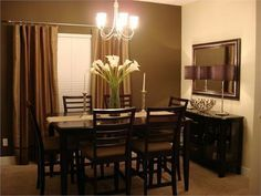 Lovely Chocolate Brown Dining Room