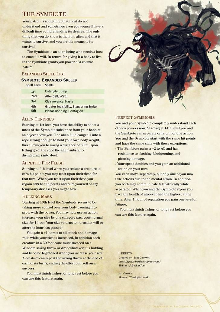 d&d 5th edition spells warlock