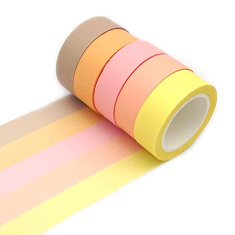 Amazon Com Ercentury Washi Masking Tape Set Assorted 5 Rolls Decorative Writable Tape For Fun Diy Art Supplies Scrapbookin Scrapbook Crafts Diy Art Crafts