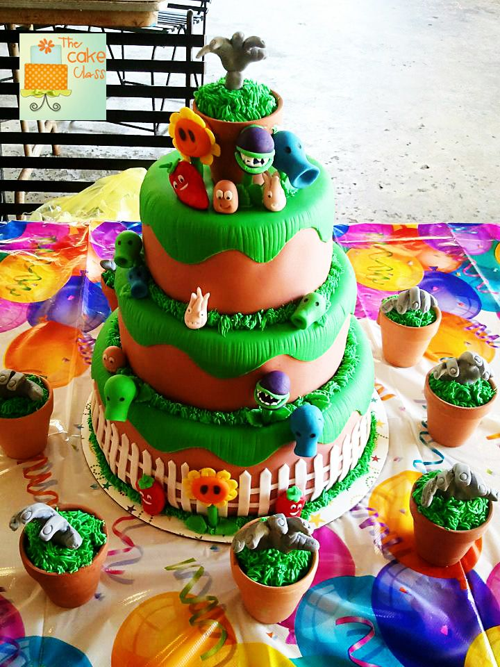 Plants vs Zombie Cake How to Make Peashooter The Cake Class