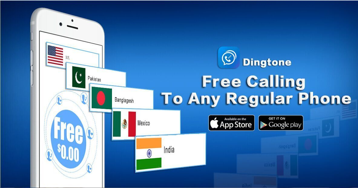 Dingtone allows you to call any landline or mobile phone