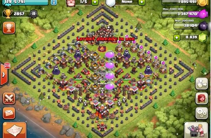 All Coc Christmas Trees.You Can Spawn Christmas Trees On The Outside Of Your Clash